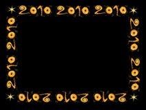 Nieuw jaar 2010 - frame Stock Afbeeldingen