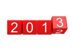 Nieuw jaar 2012-2013 die verandert Royalty-vrije Stock Fotografie