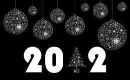 Nieuw jaar 2012 embleem Stock Foto's