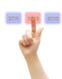 Nieuw jaar 2012 en de jaren vooruit Royalty-vrije Stock Fotografie