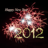 Nieuw jaar 2012 vuurwerk Royalty-vrije Stock Fotografie