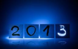 Nieuw jaar 2013, concept, lichte graffiti Stock Afbeeldingen