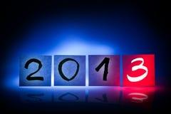 Nieuw jaar 2013, concept, lichte graffiti Stock Foto