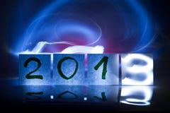 Nieuw jaar 2013, concept, lichte graffiti Stock Fotografie