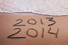 Nieuw jaar 2013 - 2014 Stock Foto