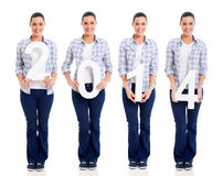 Nieuw jaar 2014 Stock Afbeelding