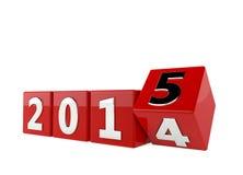 Nieuw jaar 2015 stock illustratie