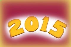 Nieuw jaar 2015, royalty-vrije stock afbeeldingen