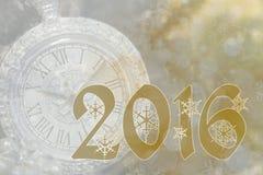 Nieuw jaar 2016 Stock Afbeelding