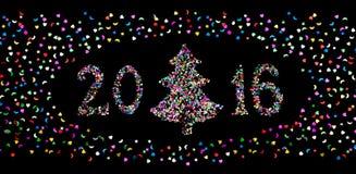 Nieuw jaar 2016 Royalty-vrije Stock Foto's