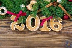 Nieuw jaar 2016 Stock Afbeeldingen