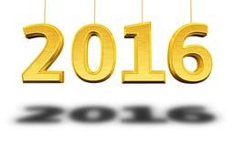 Nieuw jaar 2016 stock illustratie