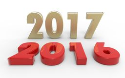 Nieuw jaar 2017 Stock Foto