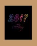2017 - Nieuw jaar Royalty-vrije Stock Foto