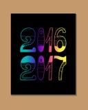 2017 - Nieuw jaar Stock Foto's