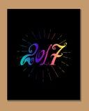 2017 - Nieuw jaar Royalty-vrije Stock Afbeeldingen