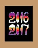 2017 - Nieuw jaar Royalty-vrije Stock Afbeelding