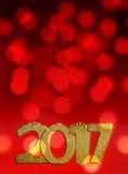 Nieuw jaar 2017 Stock Foto's