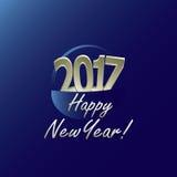 Nieuw jaar 2017 Stock Fotografie