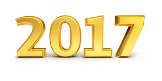 Nieuw jaar 2017 vector illustratie