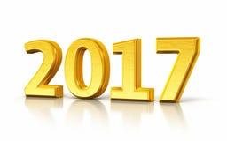 Nieuw jaar 2017 stock illustratie