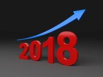 Nieuw jaar 2018 Royalty-vrije Stock Foto's