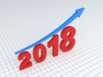 Nieuw jaar 2018 Stock Afbeelding