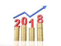 Nieuw jaar 2018 Royalty-vrije Stock Fotografie