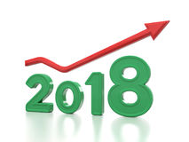 Nieuw jaar 2018 Stock Foto's