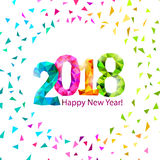 Nieuw jaar 2018 Royalty-vrije Illustratie