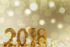 Nieuw jaar 2018 Royalty-vrije Stock Afbeelding