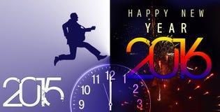 Nieuw jaar, banner, 2016 Stock Fotografie