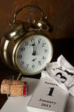 Nieuw jaar bij twaalf uur Royalty-vrije Stock Foto