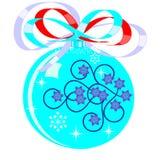 Nieuw-jaar blauwe bal Stock Afbeeldingen