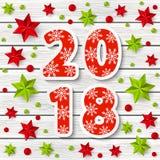 Nieuw jaar 2018 concept Stock Afbeelding
