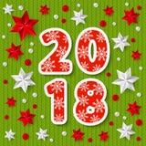 Nieuw jaar 2018 concept Royalty-vrije Stock Afbeelding