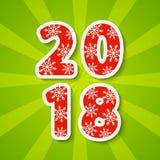 Nieuw jaar 2018 concept Stock Fotografie