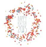 Nieuw jaar 2015 confettienviering Stock Afbeelding