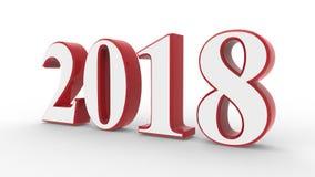 Nieuw jaar 3d 2018 Royalty-vrije Stock Foto