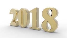 Nieuw jaar 3d 2018 Stock Foto's