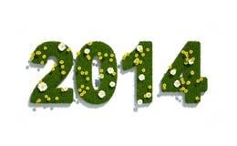 Nieuw jaar 2014 3d embleem Royalty-vrije Stock Foto's
