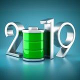 Nieuw jaar 2019 3D Illustratie royalty-vrije stock afbeeldingen
