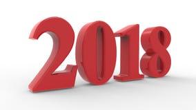 Nieuw jaar 2018 3d rood Stock Foto's