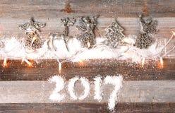 Nieuw jaar 2017 De decoratie van Kerstmis Stock Afbeeldingen