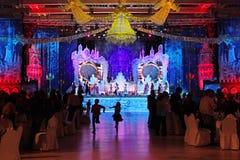 Nieuw jaar De elegante zaalklok toont middernacht moskou 31 12 2010 Stock Afbeeldingen
