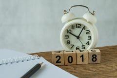 nieuw jaar 2018 doelstellingen, doel of controlelijstconcept als nummer 2018 Royalty-vrije Stock Afbeelding