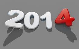 Nieuw jaar 2014 embleem Stock Afbeeldingen