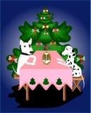 Nieuw jaar en honden Stock Fotografie