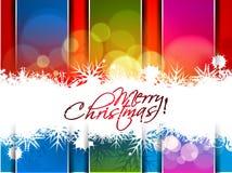Nieuw jaar en van Kerstmis kleurrijk ontwerp stock illustratie