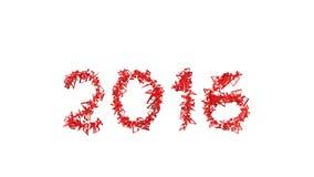 Nieuw jaar 2016 gemaakt van de nota's Royalty-vrije Stock Afbeelding